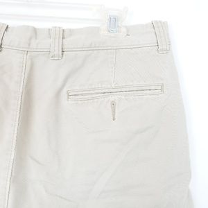 J.Crew Men Khaki Shorts Sz 32x8.5 Beige Tan Flat